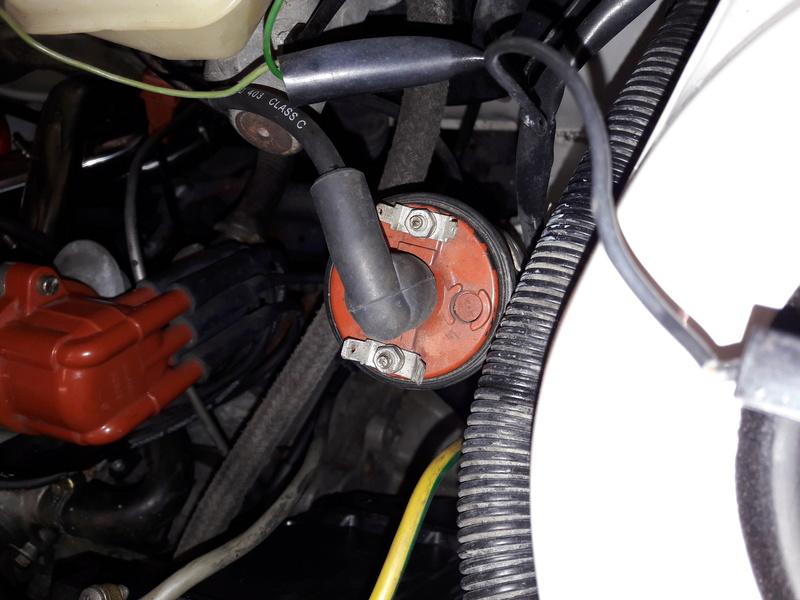 Passage faisceau moteur 205 GTI 1.9 Bobine10
