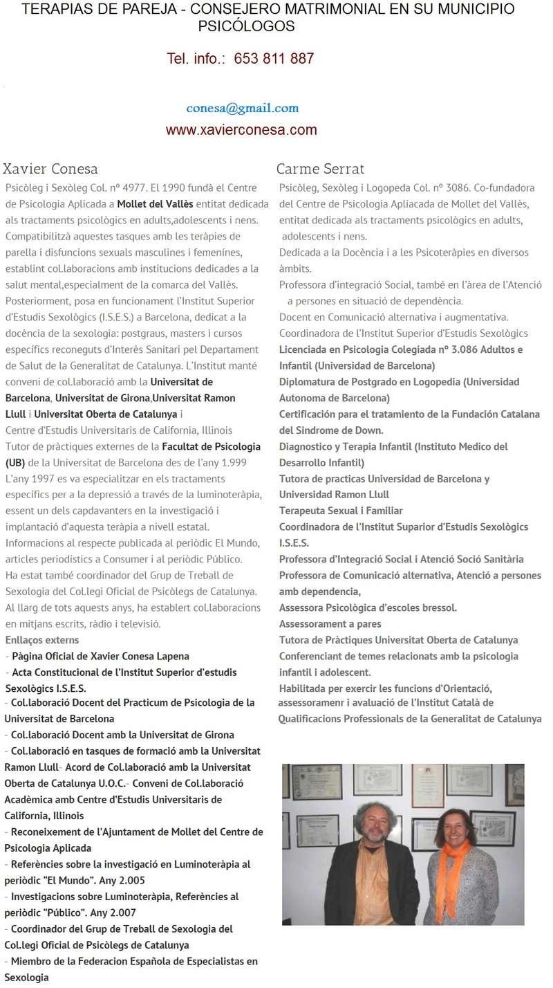 Sexólogo- Sexólogos Sexólogo- Sexólogos cerca de tu poblacion. Mollet, Granollers, Mataró, Badalona., Parets, Barcelona Vallès y Maresme Import15
