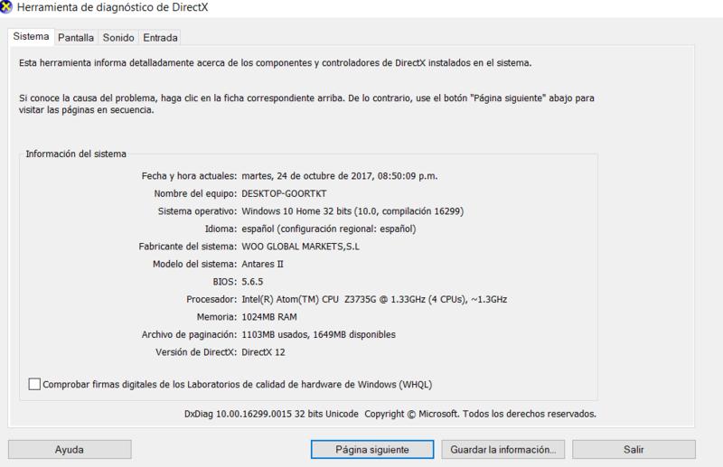 Antares II PAD842i con Windows 10 Fall Creators Update - Review Captur10
