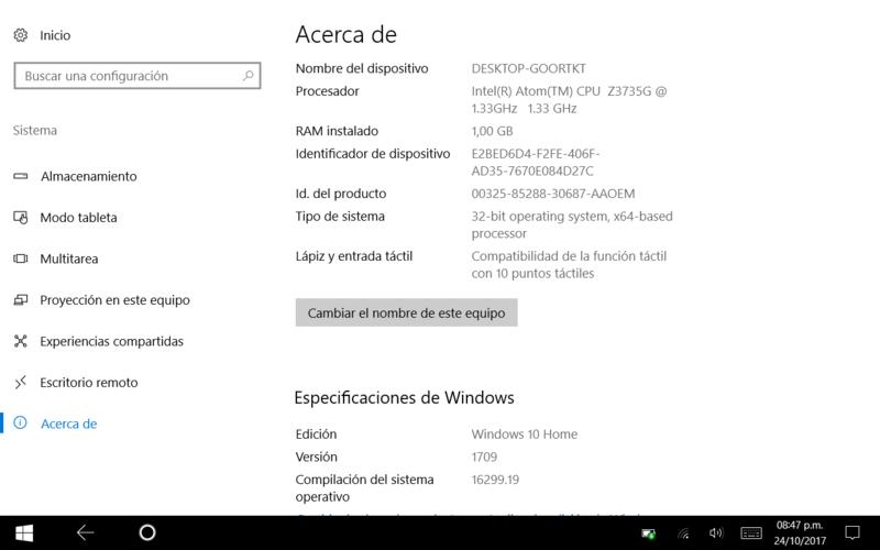 Antares II PAD842i con Windows 10 Fall Creators Update - Review Captur11