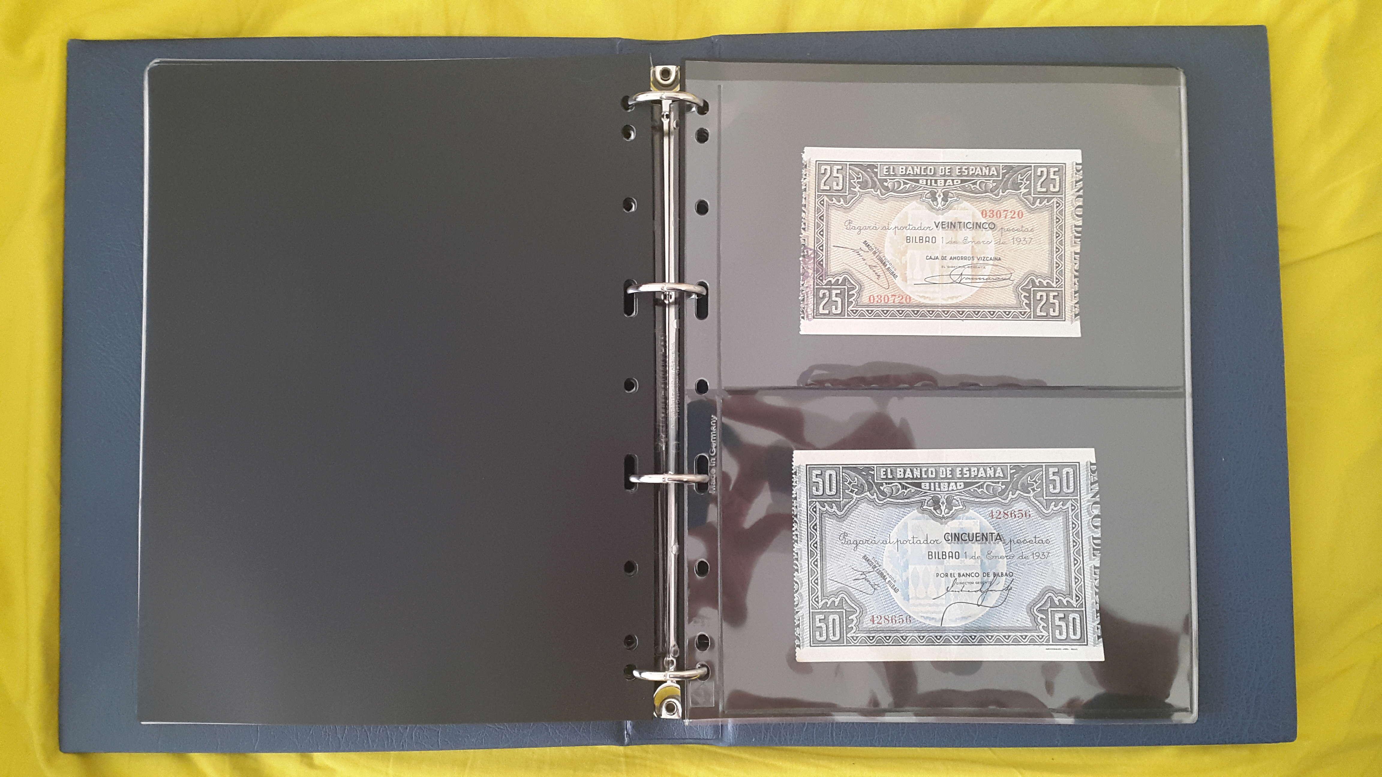 Hojas - ¿Grasilla? en hojas billetes Vario Leuchtturm 20180611