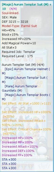 Selling Templar 7/7 Flyff016