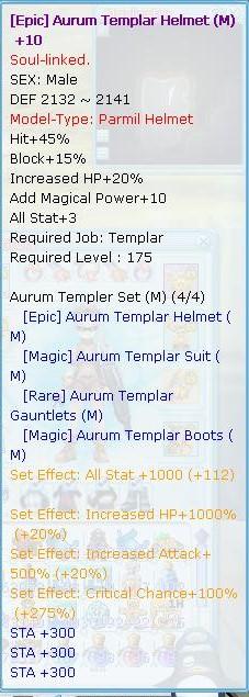 Selling Templar 7/7 Flyff017