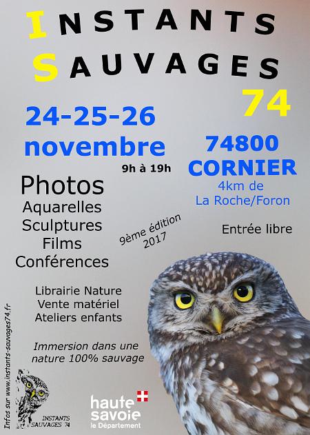 """9ème édition des """"Instants Sauvages"""" en Haute-Savoie 2017in10"""