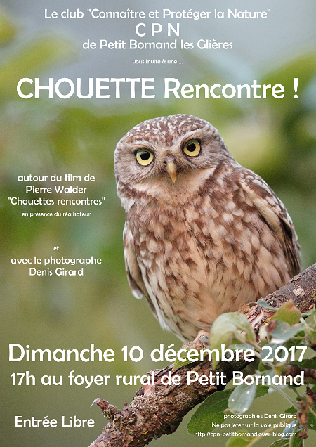 Une chouette rencontre en Haute-Savoie Affich10