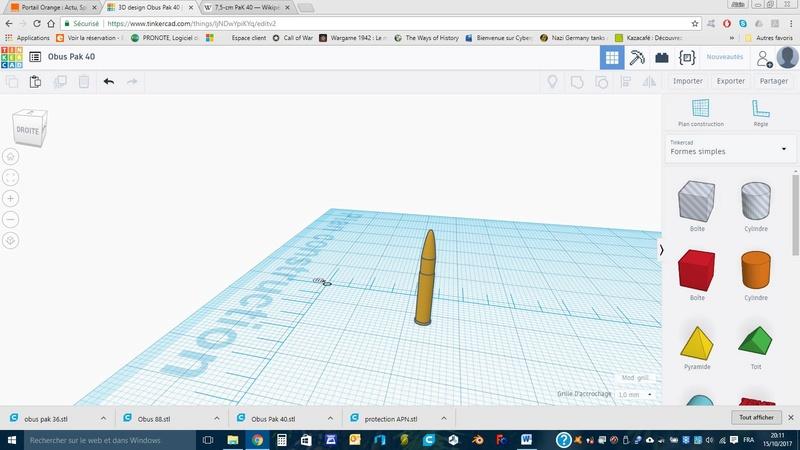 Création d'un Pak 40 avec Tinkercad (en impression 3D) Obus10