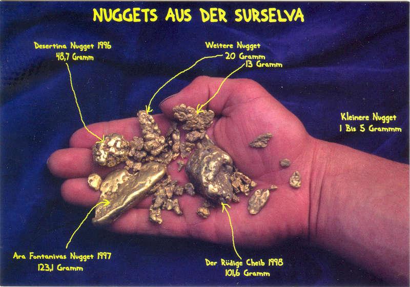 Les plus grosses pepites de Suisse (Grisons) Postka11