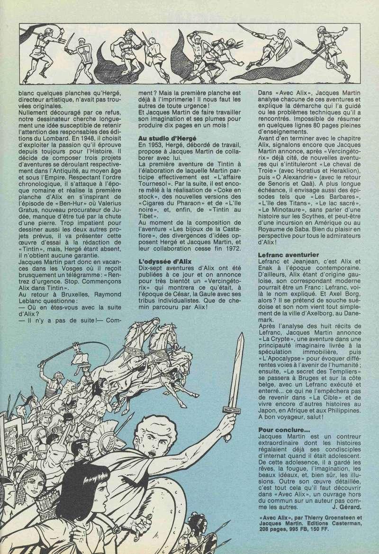 Interview, fanzines et articles divers sur Jacques Martin - Page 5 1984-210