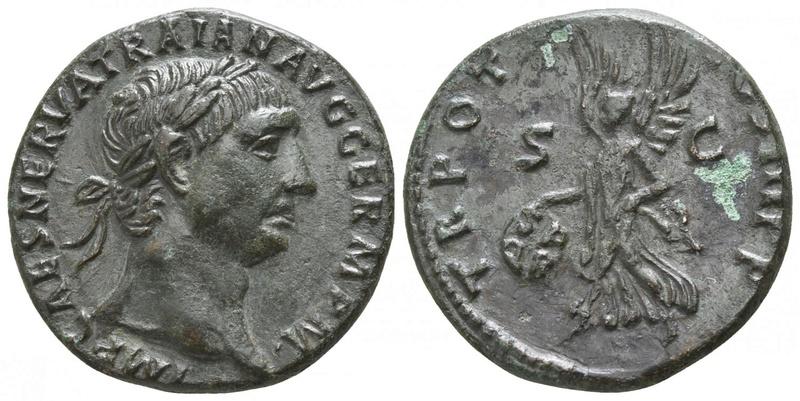 As de Trajano - TR POT COS II PP / S-C - Victoria S P Q R  en escudo 36145710