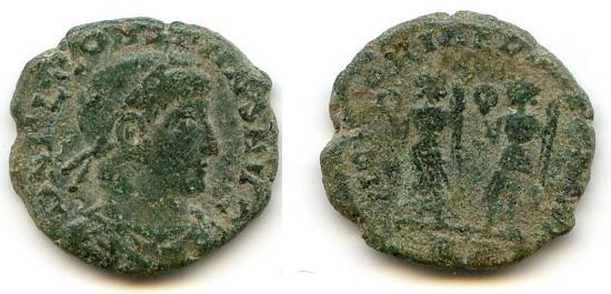 AE4 de Constante I. VICTORIAE DD AVGG Q NN. Dos Victorias enfrentadas. Roma. _rome_10