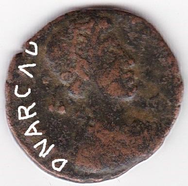 AE4 de Arcadio. VRBS RO-MA FELIX. Roma estante de frente. Roma. Ir244_10