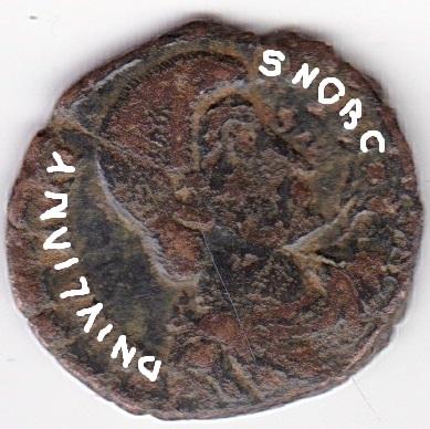 AE4 de Juliano II. FEL TEMP REPARATIO. Soldado romano alanceando a jinete caído. Antioch. Ir264a10