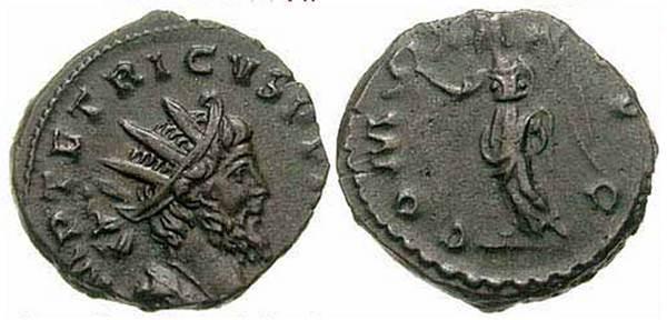 Antoniniano de Tétrico I COMES AVG. Ric_0010