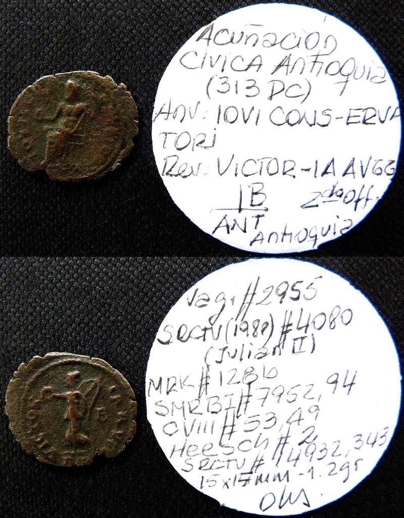 1/4 de nummus anónimo atribuido al reinado de Maximino II. Antioquía Srcv_110