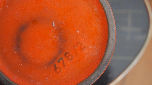 Orange West (or East?) German vase/jug - Gräflich Ortenburgsche, Tambach P1150612