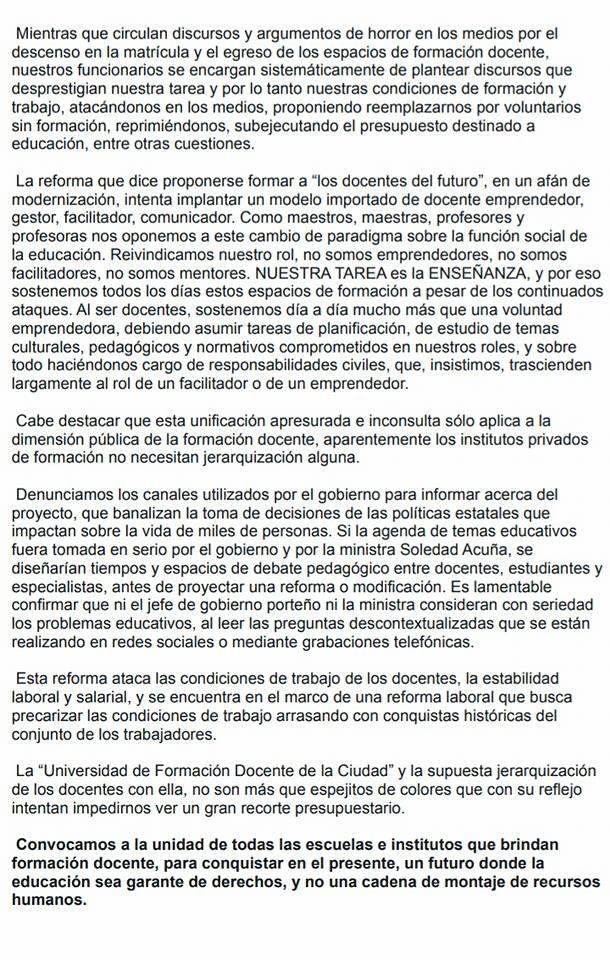 """""""Universidad Docente"""" ,cierre de 29 institutos de formación docente CABA Argentina Pronun11"""