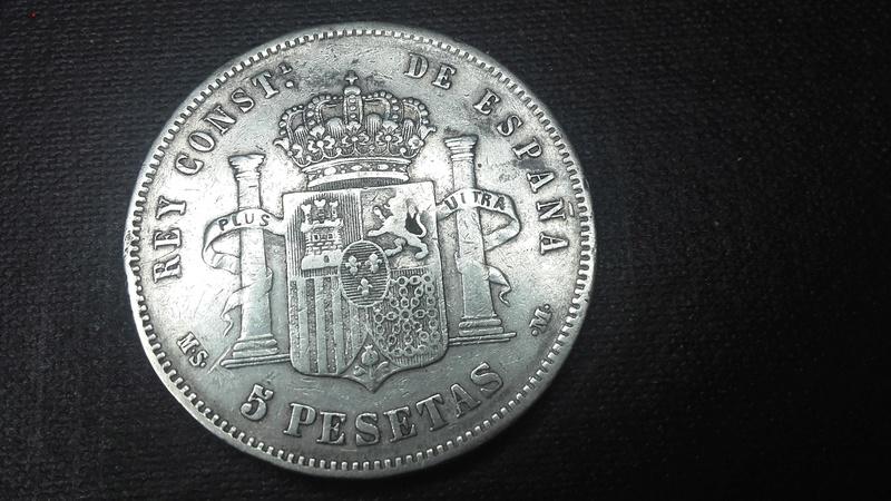 ALFONSO XIII 5 PESETAS 1888 MS M  Revers11