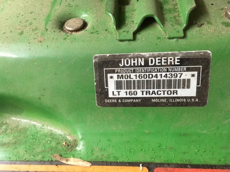 1999 John Deere LT160  Img_0911