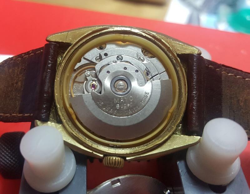 [Vendido On-Line] Relógio Vintage MAYO Automático - Day-Date - ETA 2789 : 25J - 100% Funcional mas p/ restauro 0912