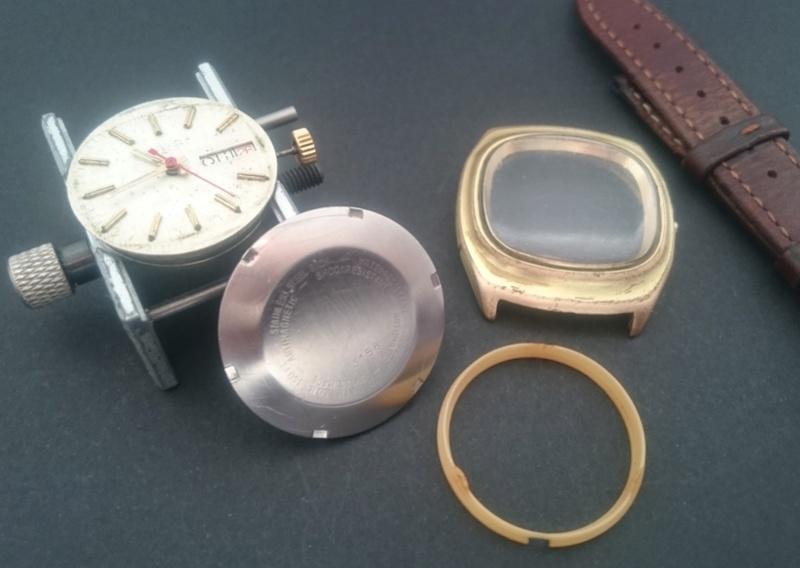 [Vendido On-Line] Relógio Vintage MAYO Automático - Day-Date - ETA 2789 : 25J - 100% Funcional mas p/ restauro 1012