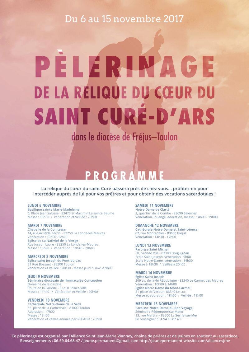 Du 6 au 15 novembre : pèlerinage dans le Var de la relique du coeur du saint Curé d'Ars 6a00d810
