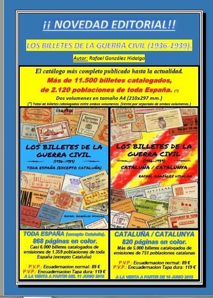 Nuevos catalogos billetes locales Guerra Civil a la venta 11 de junio y 18 de junio Noveda12