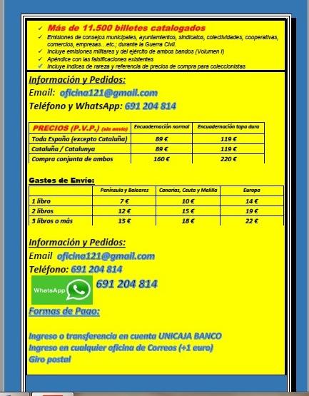 Nuevos catalogos billetes locales Guerra Civil a la venta 11 de junio y 18 de junio Noveda13