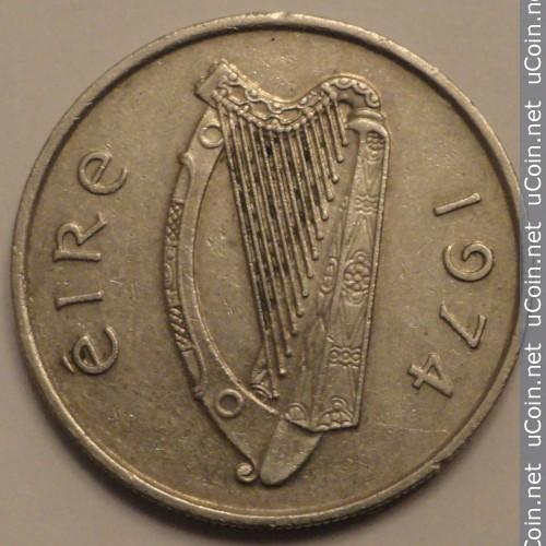 5 Peniques de Irlanda desde 1974 al 1990 Irelan10