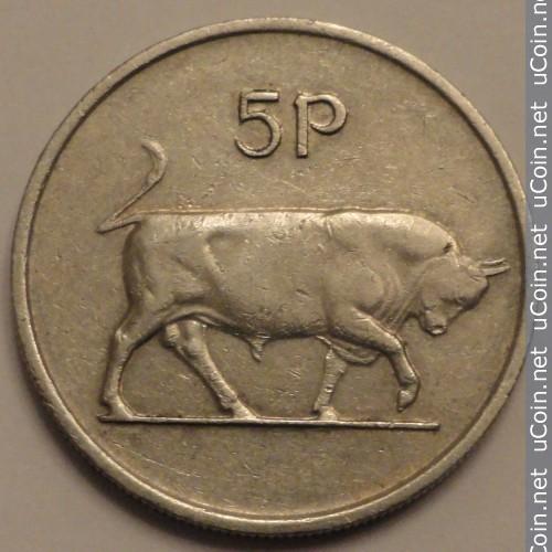 5 Peniques de Irlanda desde 1974 al 1990 Irelan11