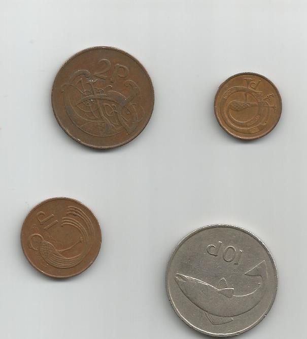 Monedas de Cuproníquel y Acero bañado en cobre Irland10