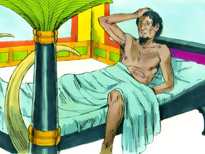 Le rêve prophétique du pharaon, Joseph intendant d'Egypte 001-jo15