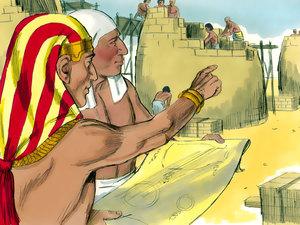 Le rêve prophétique du pharaon, Joseph intendant d'Egypte 001-jo16