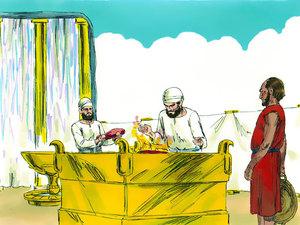 Apocalypse 9 : 13: La sixième sonnerie de trompette et la voix venant des 4 cornes de l'autel d'or 002-de10