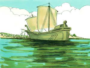 ♦ Apocalypse 8 : 9 : La mer et les bateaux 002-pa10