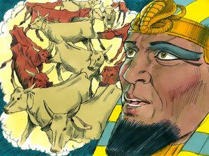 Le rêve prophétique du pharaon, Joseph intendant d'Egypte 005-jo15