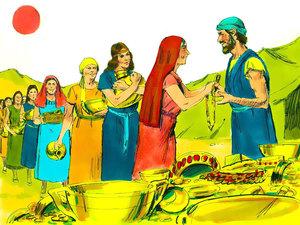 La construction par Moïse du sanctuaire dédié au culte de Jéhovah Dieu 005-mo17