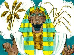 Le rêve prophétique du pharaon, Joseph intendant d'Egypte 006-jo14