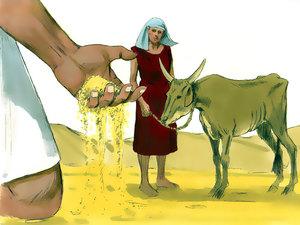 Le rêve prophétique du pharaon, Joseph intendant d'Egypte 006-jo15