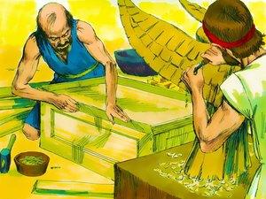 La construction par Moïse du sanctuaire dédié au culte de Jéhovah Dieu 007-mo16