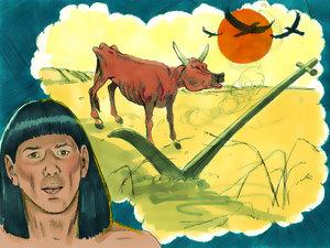 Le rêve prophétique du pharaon, Joseph intendant d'Egypte 008-jo16