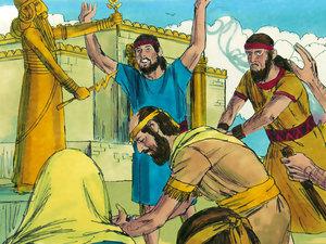 Apocalypse 9 : 13: La sixième sonnerie de trompette et la voix venant des 4 cornes de l'autel d'or 009-ki10