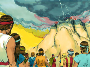 Dieu communique avec la nation d'Israël et lui transmet sa Loi 010-mo17