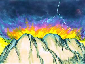 ♦ Apocalypse 9 : 2: La fumée qui monte du puits de l'abîme 011-mo13