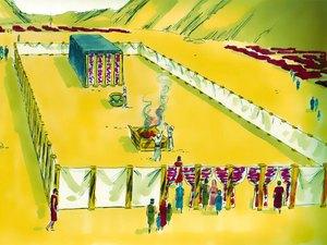 La construction par Moïse du sanctuaire dédié au culte de Jéhovah Dieu 011-mo16