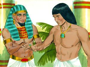 Le rêve prophétique du pharaon, Joseph intendant d'Egypte 012-jo15
