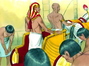 Le rêve prophétique du pharaon, Joseph intendant d'Egypte 013-jo14