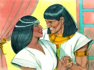 Le rêve prophétique du pharaon, Joseph intendant d'Egypte 014-jo11