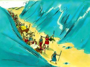 La libération des Israélites et la traversée miraculeuse de la mer rouge 015-mo14