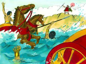 La libération des Israélites et la traversée miraculeuse de la mer rouge 018-mo13