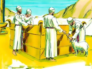 La construction par Moïse du sanctuaire dédié au culte de Jéhovah Dieu 022-mo14